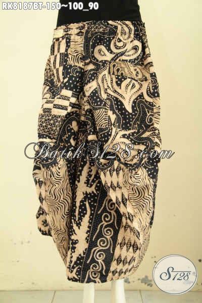 Model Batik Rok Aladin Keren Dan Gaul, Busana Batik Bawahan Desain Kekinian Untuk Penampilan Wanita Lebih Gaya [RK8187BT-All Size]