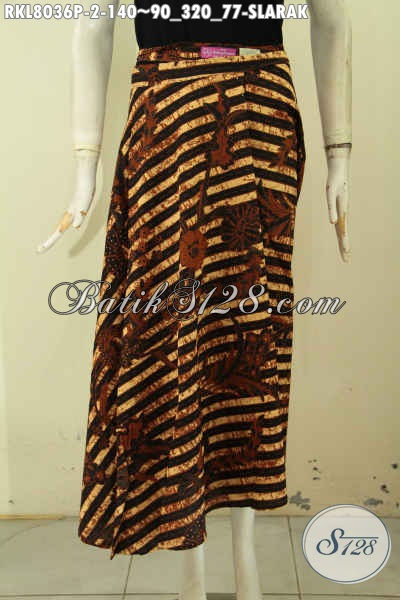 Model Baju Batik Bawahan Wanita Terkini, Rok Batik Motif Slarak Klasik Bahan Adem Desain Pakai Tali, Tampil Lebih Modis