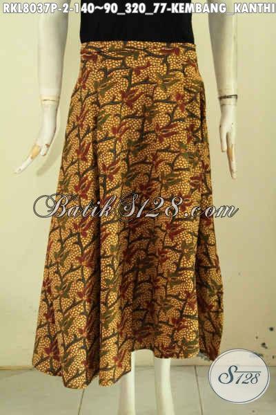 Sedia Rok Batik Modis Dengan Motif Kembang Kanthil, Bawahan Batik Cewek Model Lilit Dan Bertali, Tampil Makin Gaya [RKL8037P-All Size]