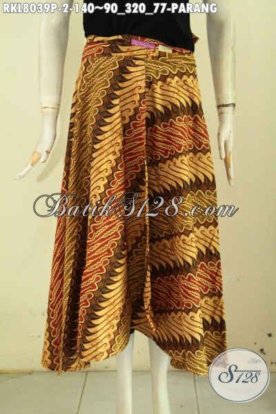 Jual Rok Batik Buatan Solo Model Lilit Bertali, Busana Batik Bawahan Motif Parang Printing, Penampilan Terlihat Mempesona