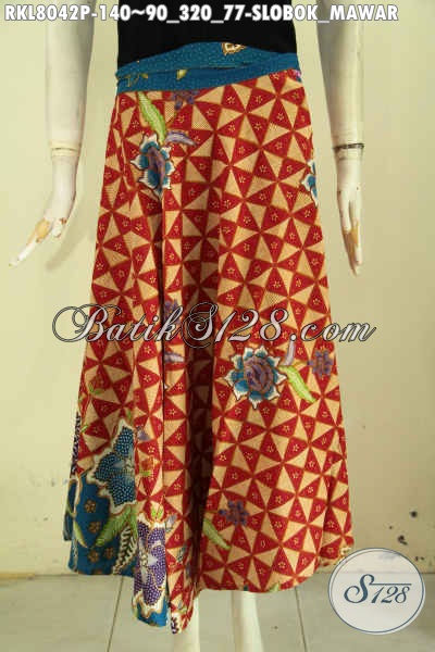 Produk Rok Batik Model 2019 Lilit Dan Bertali, Bawahan Batik Elegan Motif Klasik Slobok Mawar Proses Printing Hanya 140K [RKL8042P-All Size]