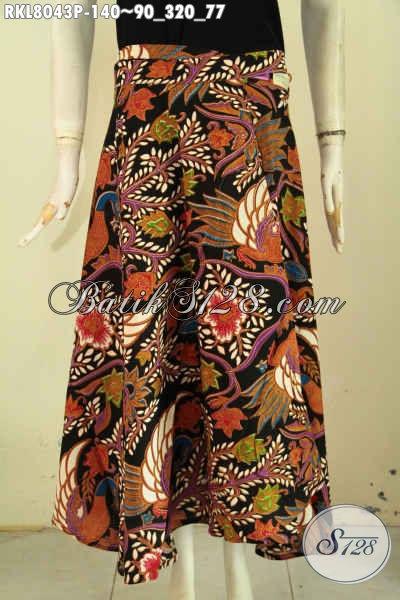 Busana Bawahan Rok Batik Cewek Terkini, Pakaian Batik Wanita Model Lilit Bertali Bahan Halus Motif Bagus Proses Printing, Di Jual Online 140 Ribu