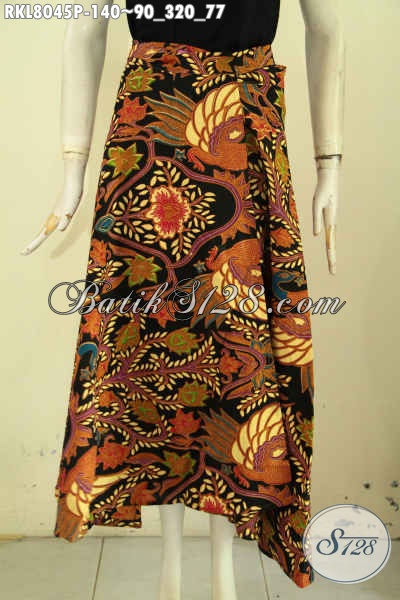 Sedia Baju Batik Bawahan Untuk Cewek, Rok Batik Printing Khas Jawa Tengah Model Lilit Bertali, Cocok Untuk Kerja Dan Santai [RKL8045P-All Size]