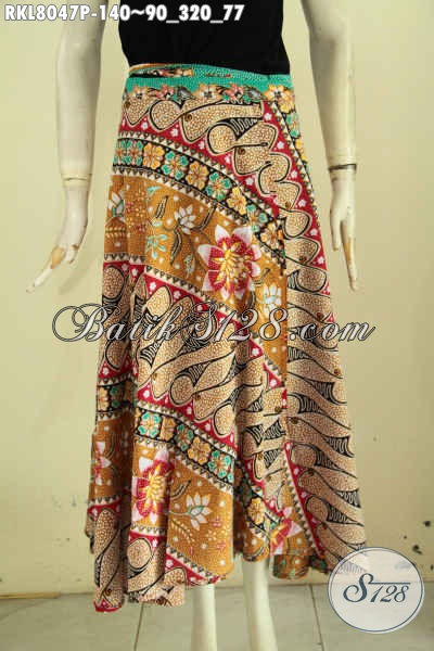 Rok Batik Modis Keren Buatan Solo Model Lilit Dan Bertali, Prduk Bawahan Batik Untuk Wanita Motif Kekinian Proses Printing Hanya 140K