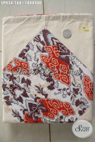 Sprei Batik Bagus Bahan Halus Dan Adem Motif Proses Printing, Tersedia 2 Sarung Bantal Serta Guling Harga 168K [SP034-180×200]