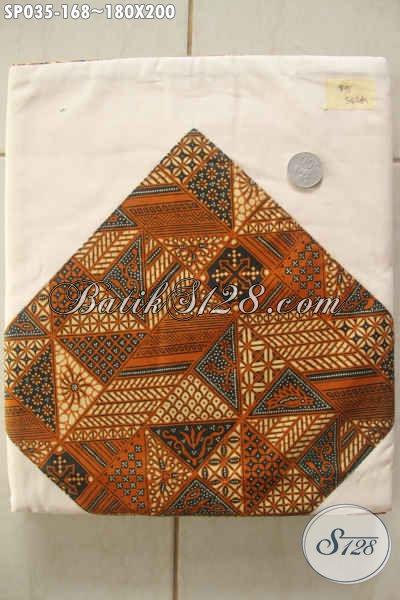 Sprei Batik Bagus Harga Murah, Hadir Dengan Motif Klasik Printing Dasar Putih Gading, Pilihan Tepat Untuk Tidur Nyenyak [SP035-180×200]