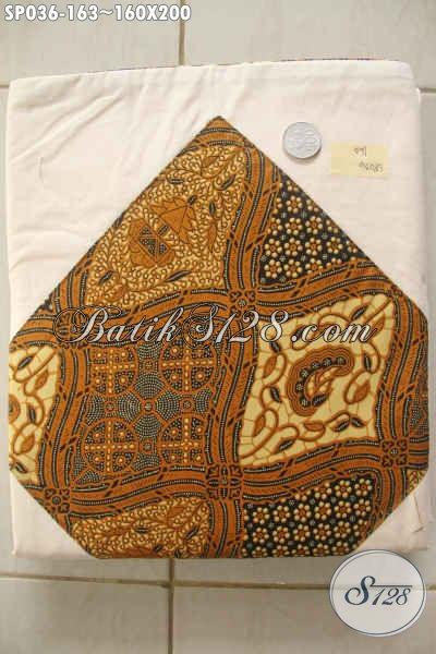 Sprei Batik Halus Bahan Adem Motif Klasik Asli Buatan Solo, Dilengkapi 2 Sarung Bantal Dan 2 Sarung Guling Harga 163K [SP036-160×200]