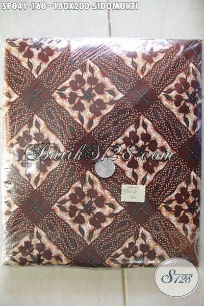 Jual Online Sprei Batik Motif Klasik Sidomukti, Batik sprei Buatan Solo Berbahan Adem Yang Nyaman Untuk Kwalitas Tidur Semakin Sempurna [SP041-180x200cm]