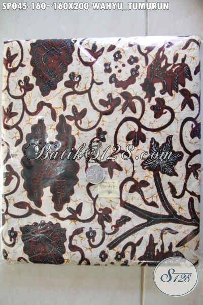 Batik Sprei 100 Ribuan Motif Klasik Wahyu Tumurun Berbahan Adem Untuk Tidur Lebih Nyenyak Dan Nyaman [SP045-180x200cm]