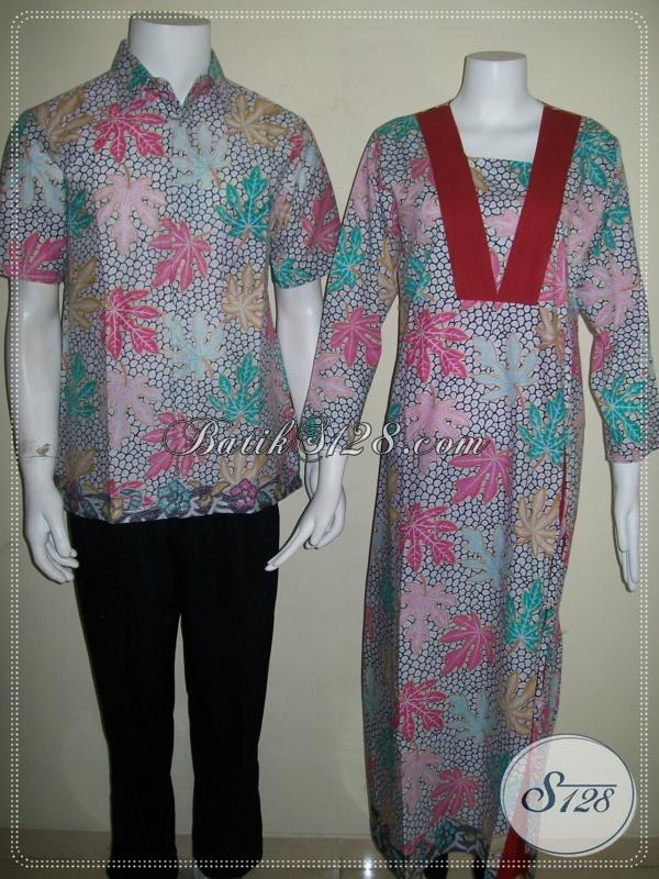 Batik Sarimbit Couple Modern Murah Solo Bagus [SR035P-CoMXL-CeMXL]
