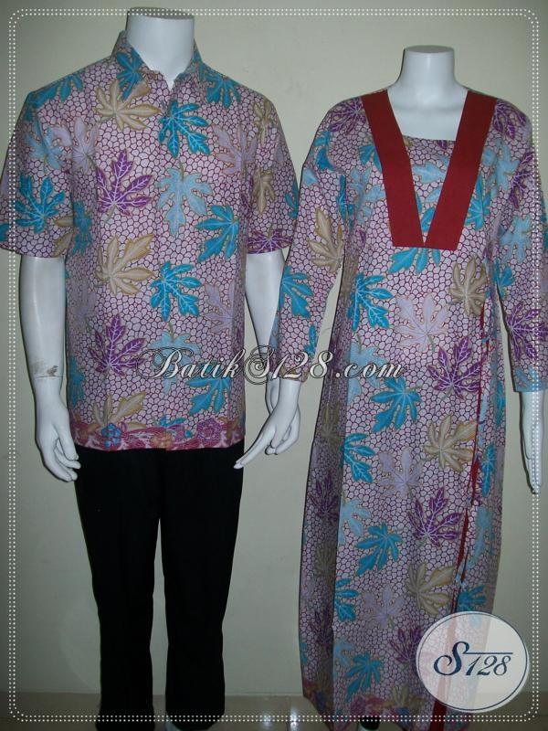 Batik Sepasang Murah Pria Wanita Sarimbit Modern [SR036P-CoML-CeML]
