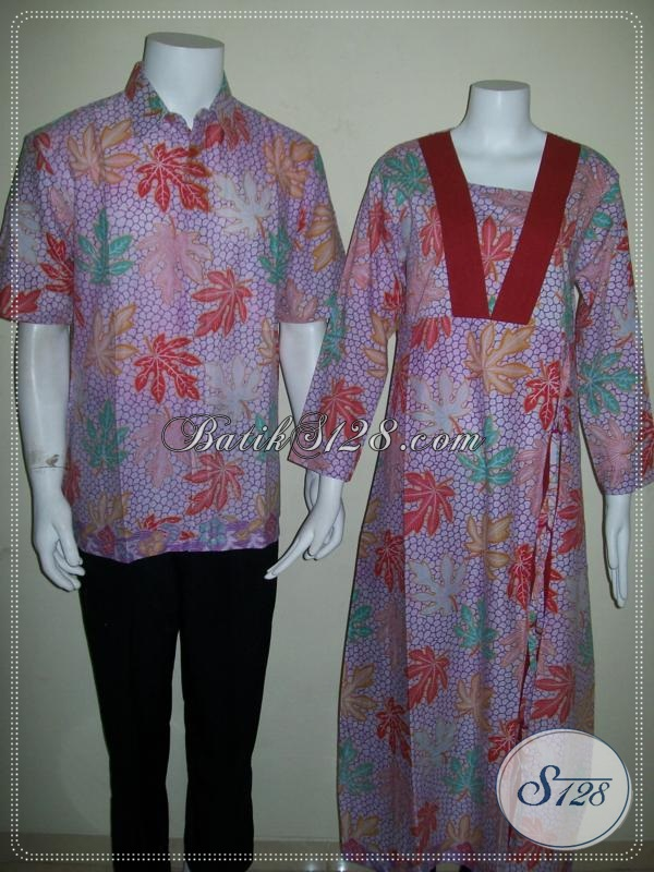 Batik Pasangan Muslim Sarimbit Suami Istri Gamis Modern Murah Online Solo [SR038P-CoLXL-CeLXL]