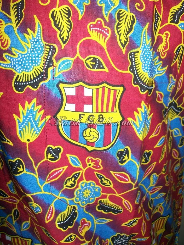 Batik Bola Barcelona /Barca /FCB Asli Solo Murah [BB003]