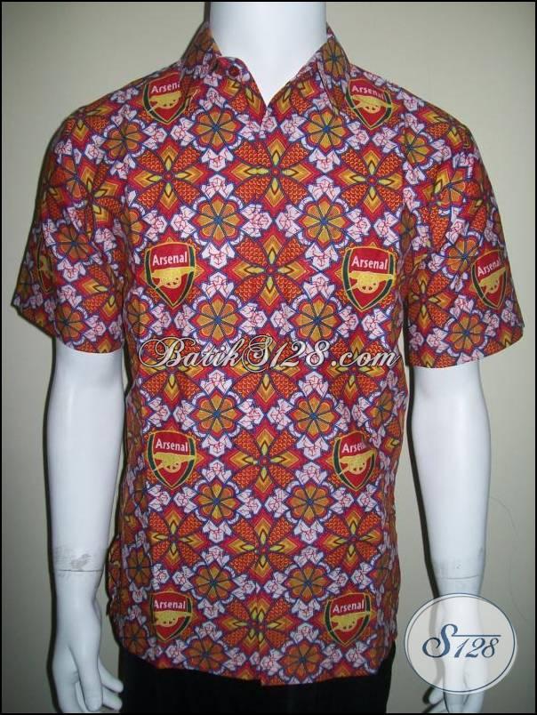 Batik Bola Arsenal Motif Baru Bahan Katun Halus BB103  Toko
