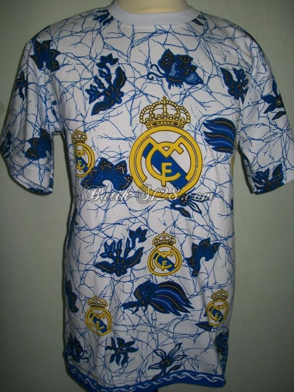 Kaos Batik Bola Real Madrid Murah Bahan Katun Grosir Reseller