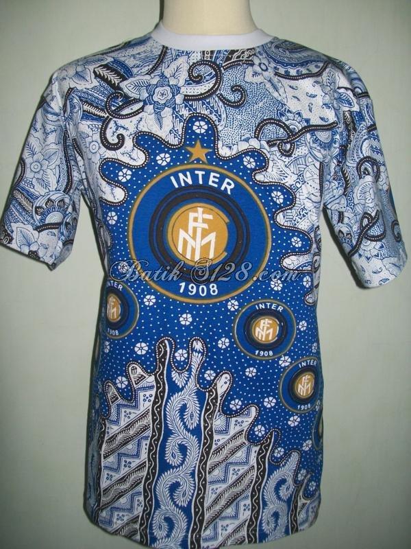 Kaos Batik Bola Intermilan, Harga Murah, Batik Solo [BK003]