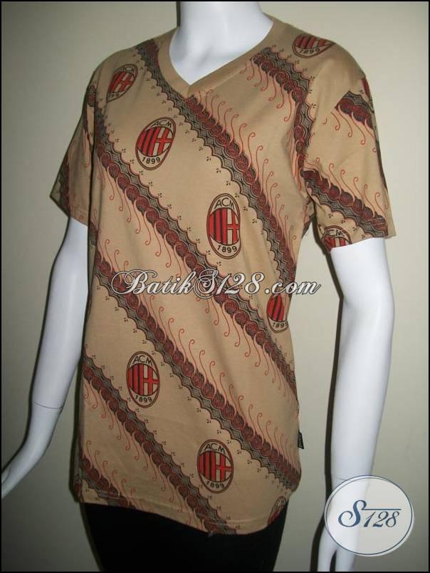 Kaos Batik Cewek AC Milan Warna Coklat [BK006]
