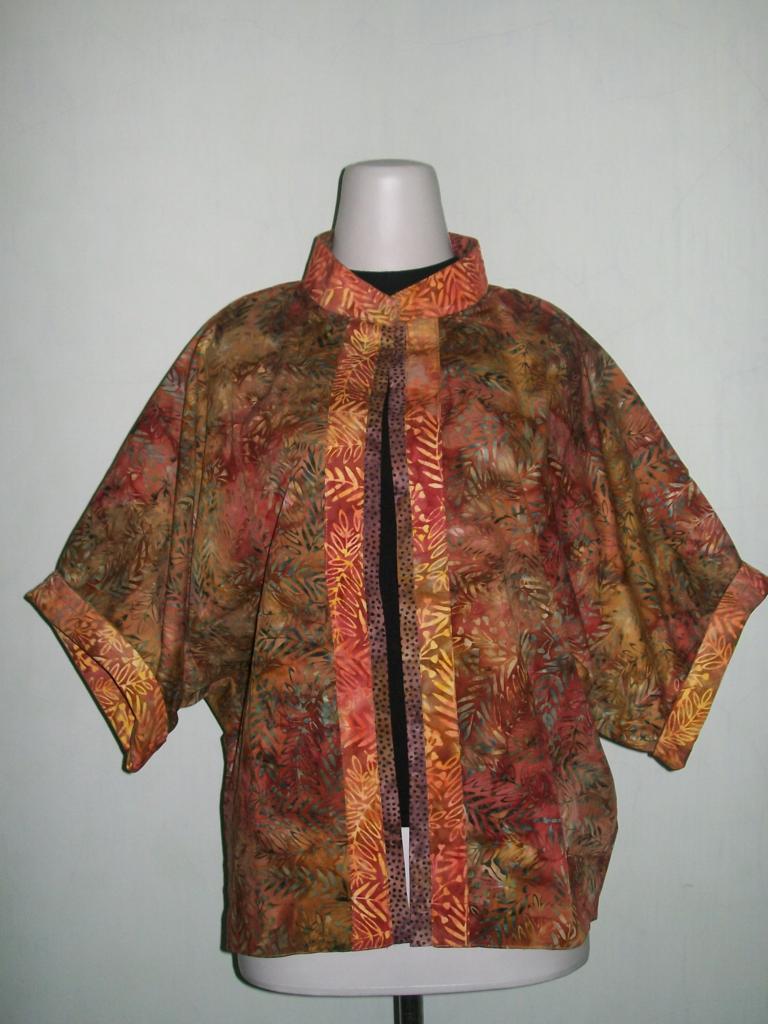 Bolero Batik Bolak Balik Dengan Krah Shanghai [BL041]