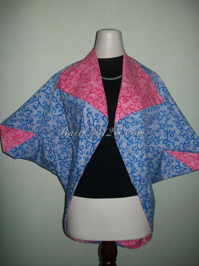 Paduan Warna Biru Dan Merah Untuk Bolero Batik Bolak Balik Termurah [BL067]