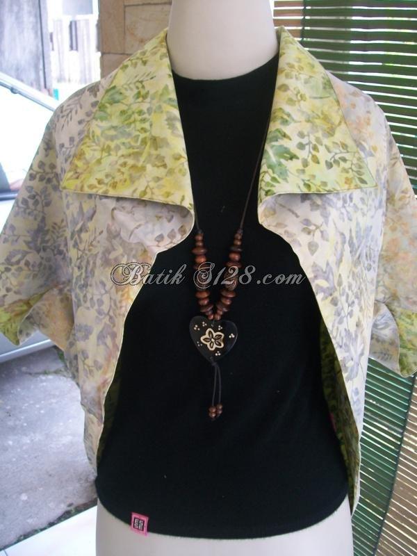 Bolero Murah Batik Bolak Balik,Batik Cap (Handmade),Kwalitas Ekpor,Asli Batik Solo [BL104-M]