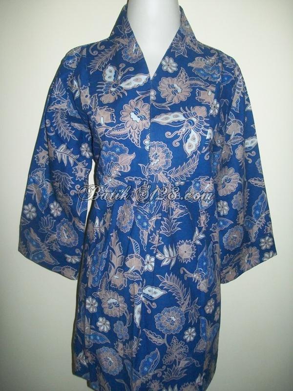 Harga Murah Untuk Blus Batik Kantor Wanita Trendy [BLS005-L]
