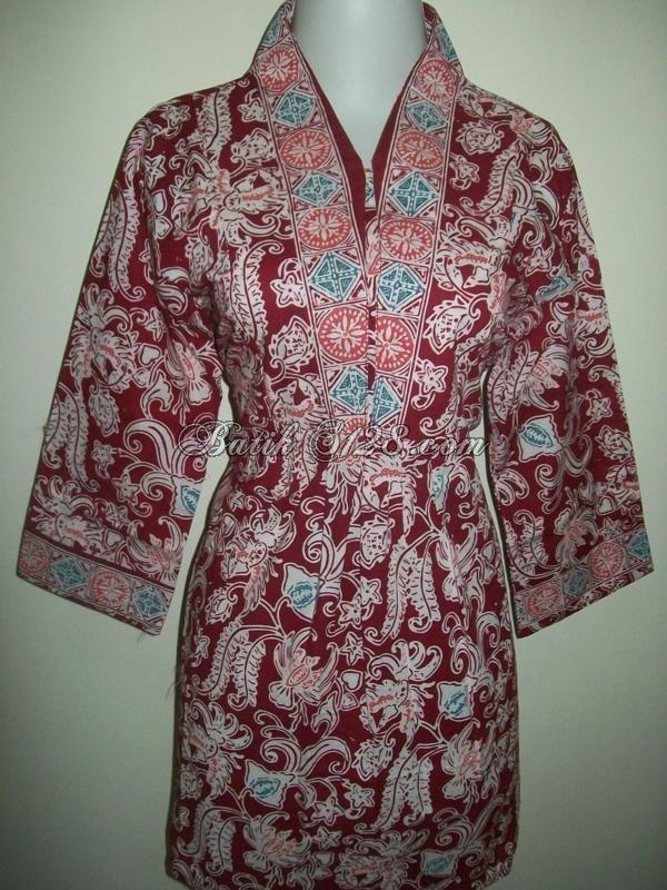 Jual Busana Batik Trendy Dan Modern Bagi Pecinta Batik Handmade [BLS007-M]