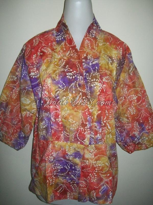 Blus Batik Kerja Untuk Wanita Modern Dan Trendy [BLS021-M]