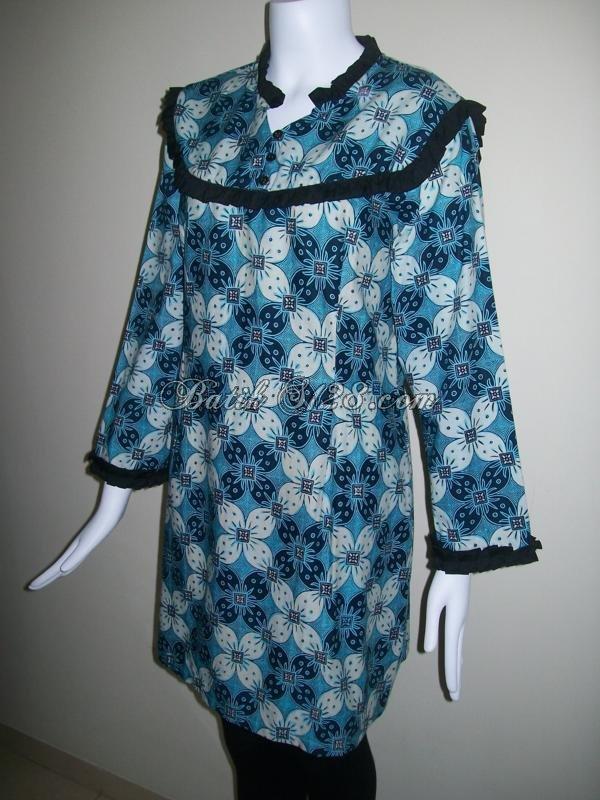 Jual Blouse Batik Lengan Panjang Online [BLS028]