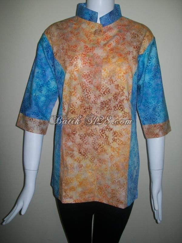 Busana Batik Cantik Buat Wanita Pekerja Kantor [BLS072]