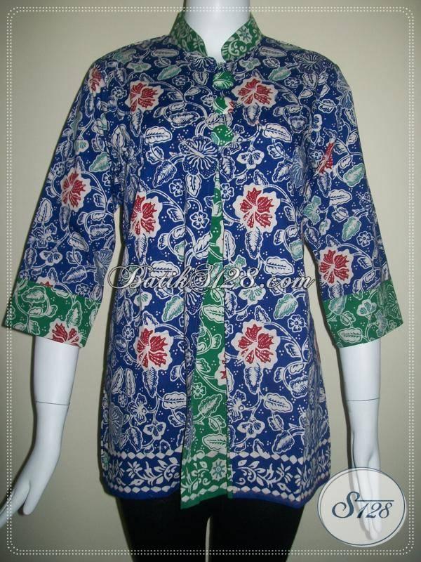 Baju Batik Kerja Untuk Wanita Modern Dan Trendy [BLS091]