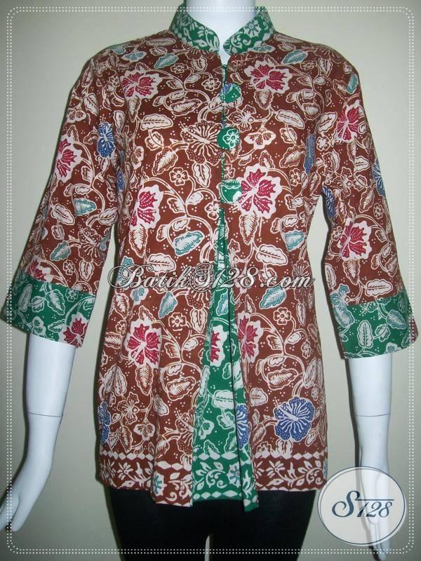 Model Terbaru Baju Batik Kantor Untuk Wanita Yang Dijual Di Thamrin City [BLS099]