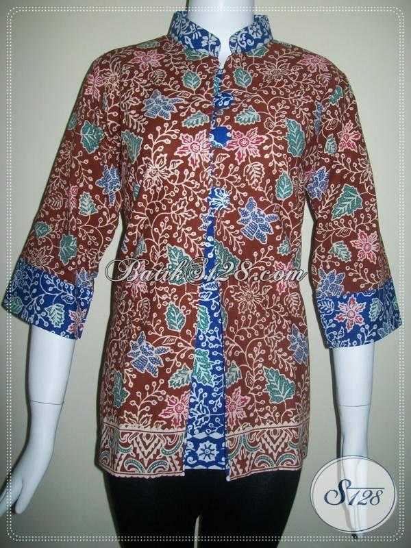 Baju Batik Model Terkini Untuk Busana Batik Kerja Bls101