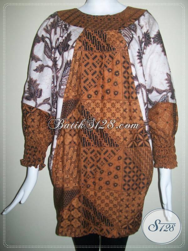 Blus Batik Modern,Model Kelelawar,Berkaret Di Lengan [BLS103]