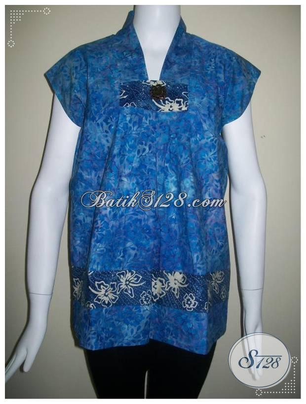Baju Batik Model Tanpa Lengan Keren Dan Exclusive Bls114