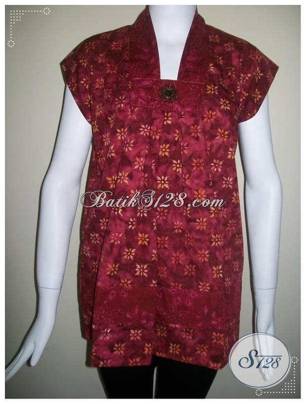 Baju Batik Murah Tanpa Lengan Elegan Dan Unik Bls115