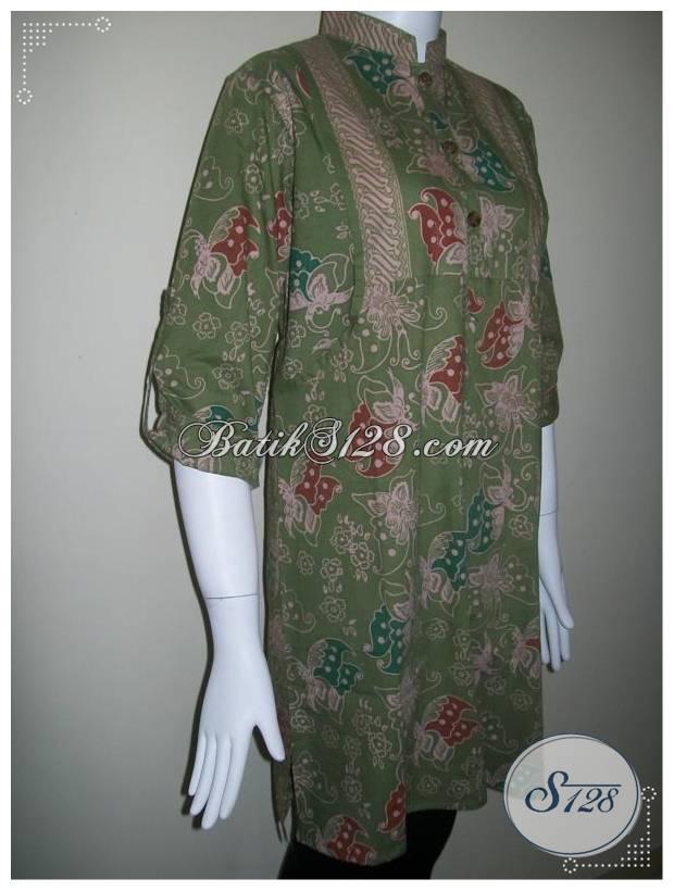Busana Batik Hijaber,Berlengan Panjang, Dan Model Terbaru Dari Batik Solo [BLS117]