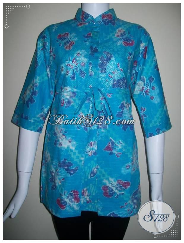 Baju Batik Model Pias Depan,Karet Belakang Dan Cocok Untuk Baju Kantor [BLS132]