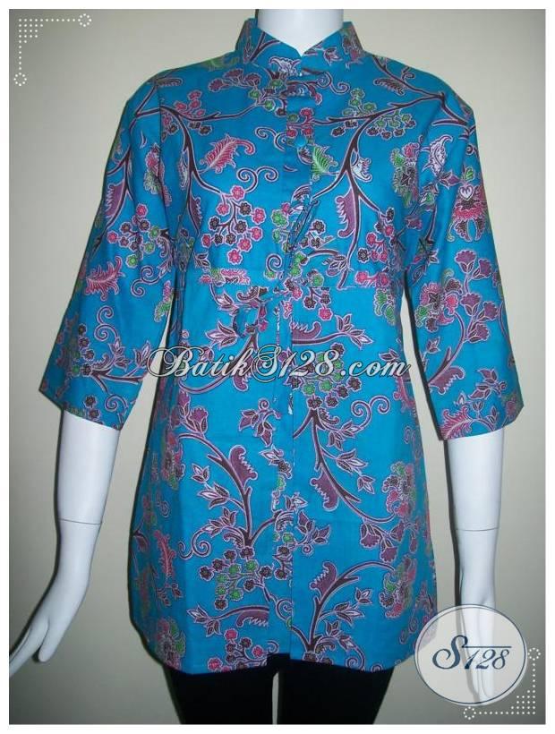 Busana Batik Elegant Untuk Wanita Pekerja Kantor [BLS134]