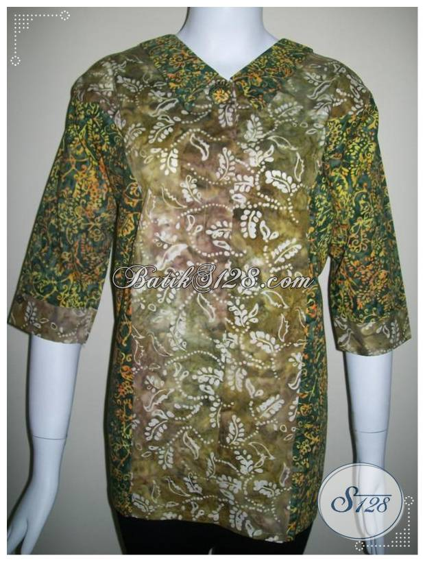 Busana Batik Kerja Wanita, Model Tabrak Warna Dengan Motif Modern Dan Terkini [BLS144]