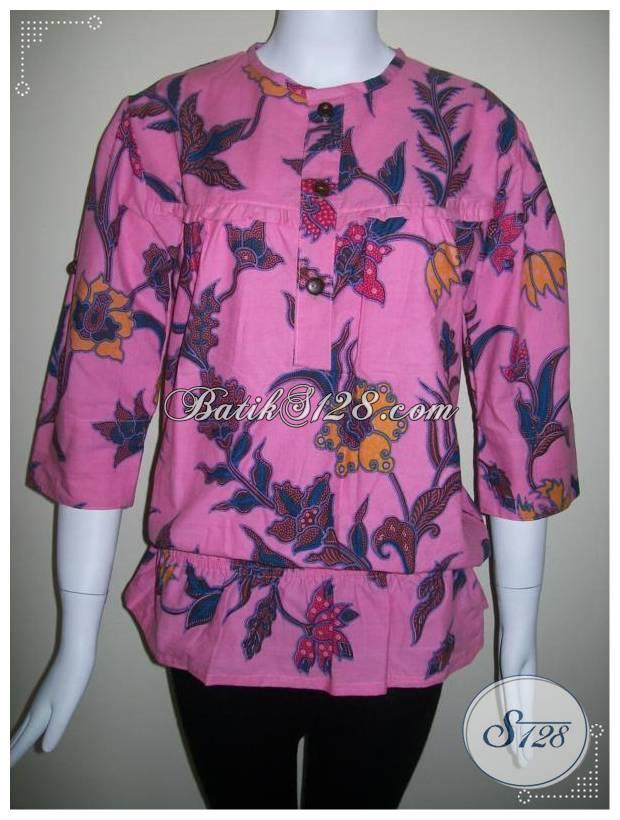 Baju Batik Kerja Wanita Terkini Dan Model TERbaru Masa Kini  BLS154 ... c37b290abe