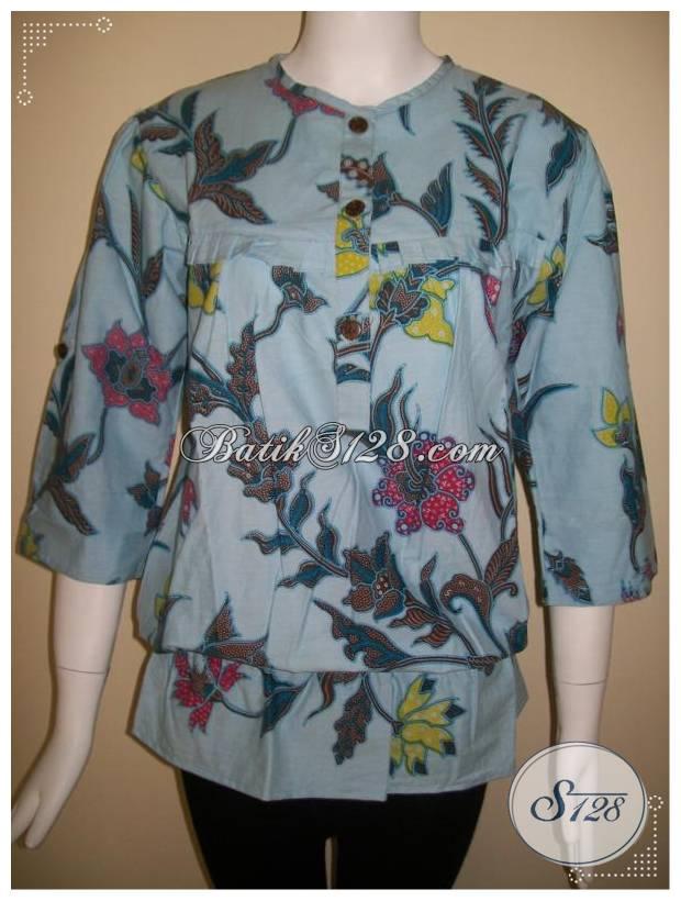Baju Batik Modern Dan Model Terkini Untuk Wanita Kerja Kantor [BLS156]