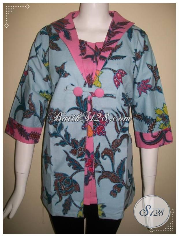 Baju Batik Kerja Untuk Wanita Ukuran Jumbo BLS170  Toko Batik