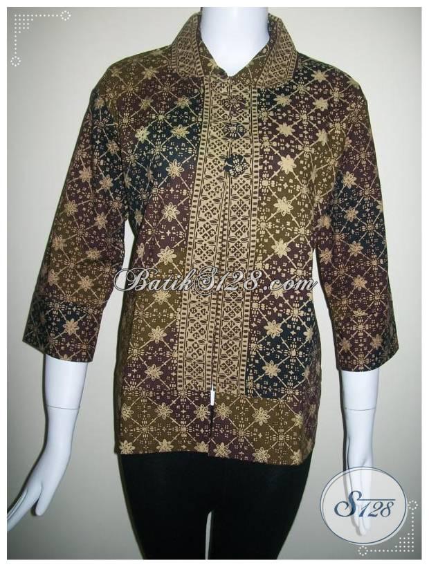 Model Baju Batik Modern Kerja Formal Terbaru