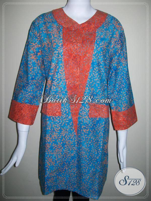 Busana Batik Kerja Untuk Wanita Aktif Dan Modern [BLS198]