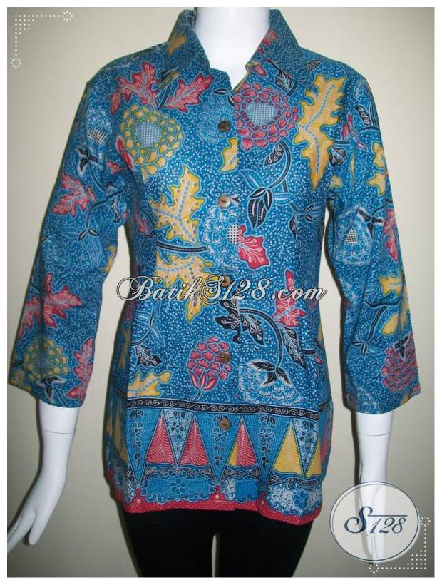 Blus Batik Model Terkini Untuk Baju Kantor [BLS222]
