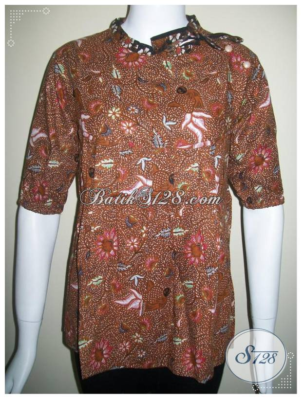 Baju Batik Motif Ikan Warna Soga [BLS231-M]