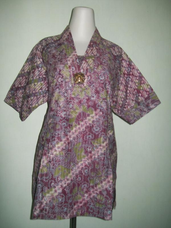 Baju Batik Lengan Pendek Terbaru Asli Batik Solo Cd019