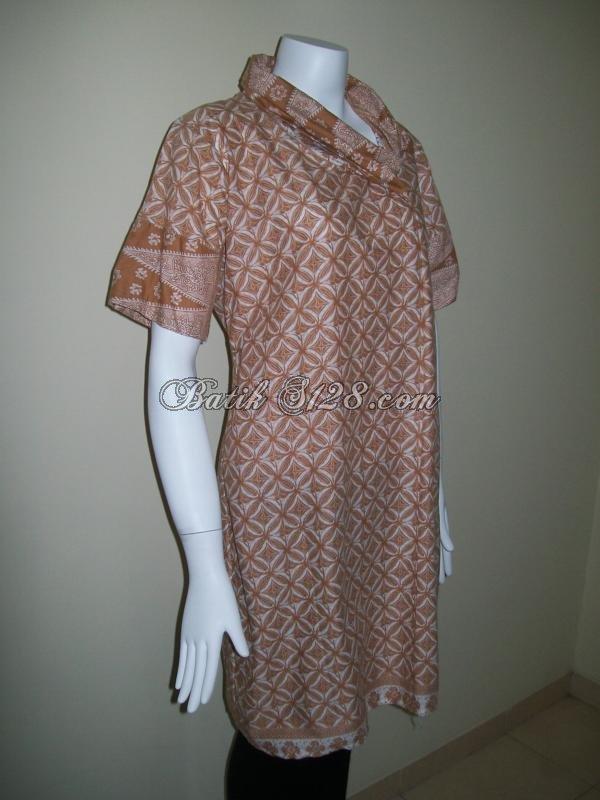 Dress Batik Wanita Modern Terbaru Murah Asli Solo [D011]
