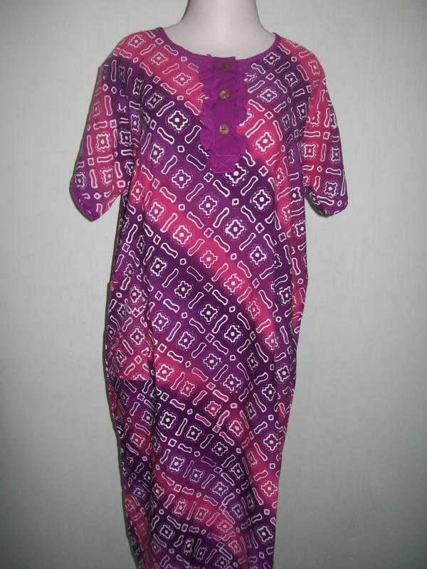 Daster Batik Cap Bahan Santung Motif Cinden [DS009]