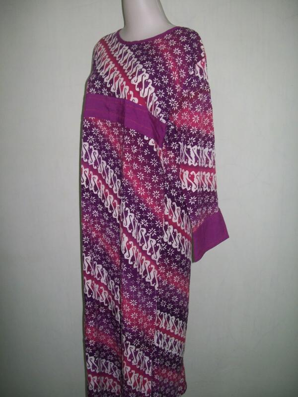 Daster Batik Cap Bahan Santung Model Abaya [DS010]